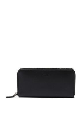 Accordion Crossgrain Leather Wallet