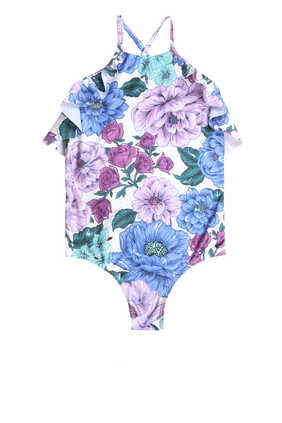 Poppy Butterfly One Piece Swimsuit