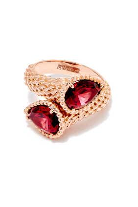 Toi Et Moi Serpent Bohème Rhodolite Garnet Ring