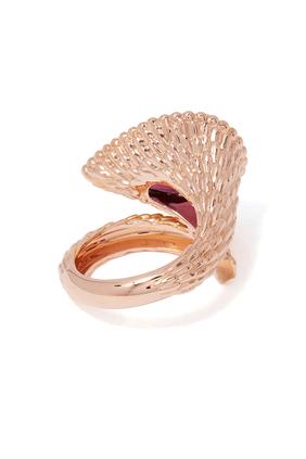 Serpent Bohème Rhodolite Garnet Large Ring
