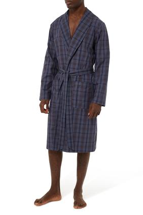Checked Woven Robe