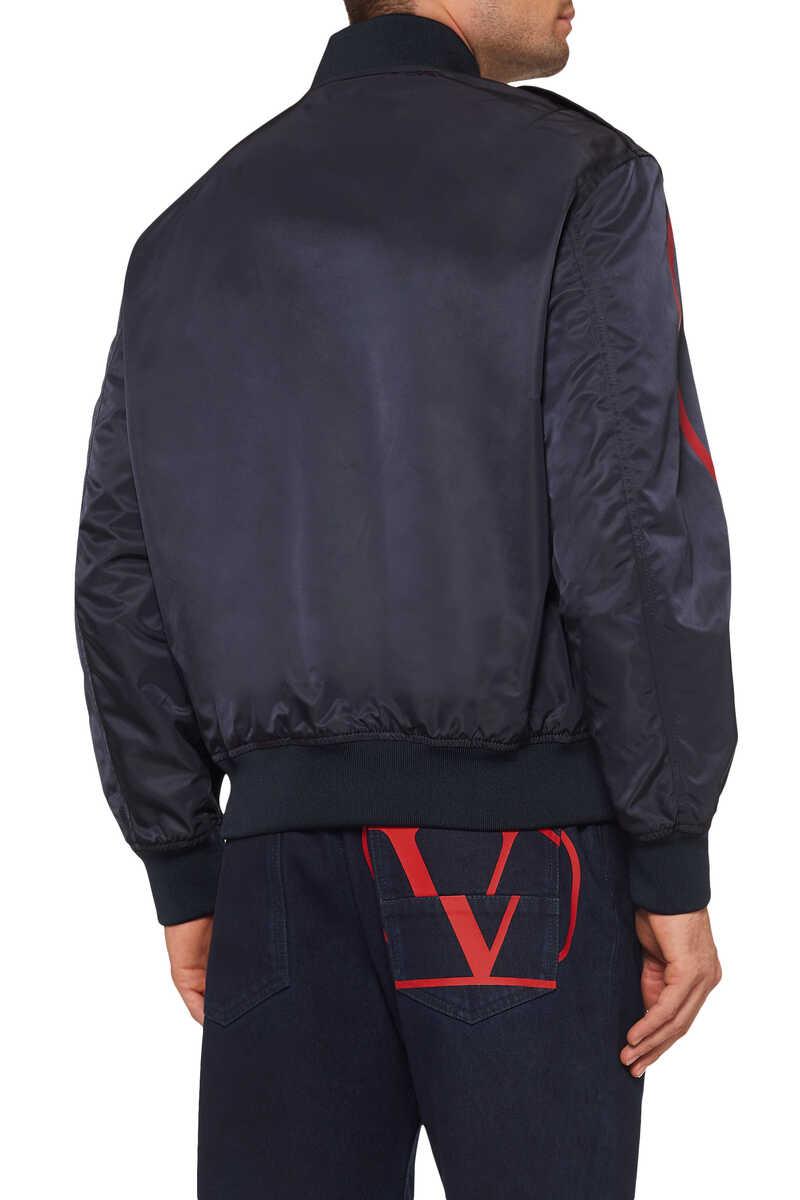 Vintage V Logo Bomber Jacket image number 3