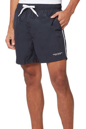 Logo Boxer Swim Shorts