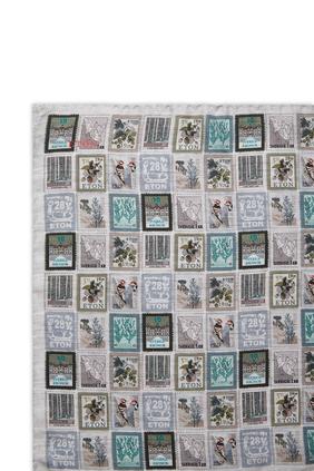 Stamps Print Pocket Square