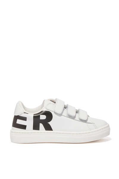 Velvet Logo Sneakers