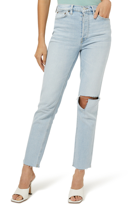 80's Slim Straight Denim Jeans