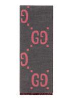GG Jacquard Wool Silk Scarf