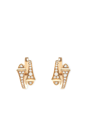 Cleo Diamond Huggies Earrings