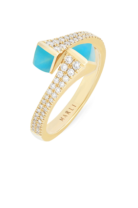 Cleo  Wrap Ring in 18kt Yellow Gold