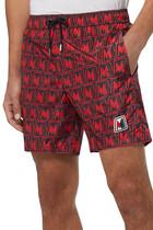 All-Over Print Swim Shorts