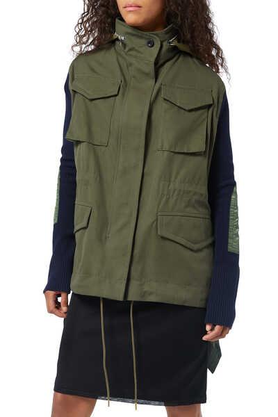 Fabric Combo Jacket