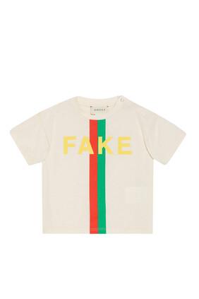 'Fake/Not' Print T-Shirt
