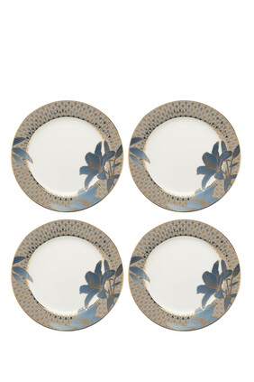 Royal Worcester Blue Lily Salad Plates, Set of 4