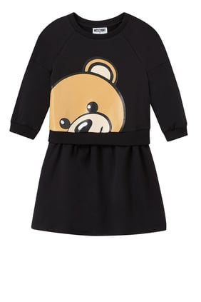 Teddy Bear Print Dress