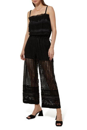 Embroidery Lace Jumpsuit