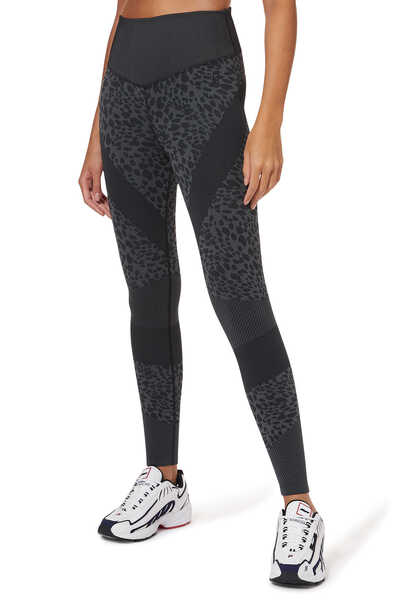 Leopard Jacquard Leggings