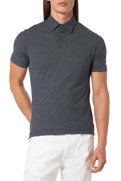 Striped Ice Cotton Polo Shirt