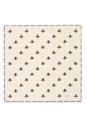 Bees Silk Pocket Square