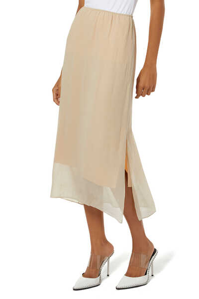 Textured Double Layered Skirt