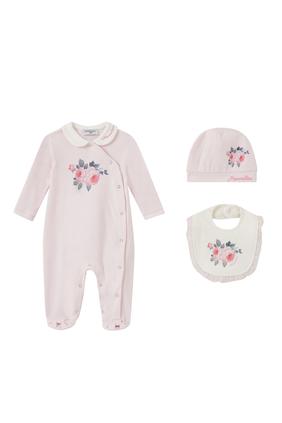 Newborn Girl Cotton Set, Set of 3