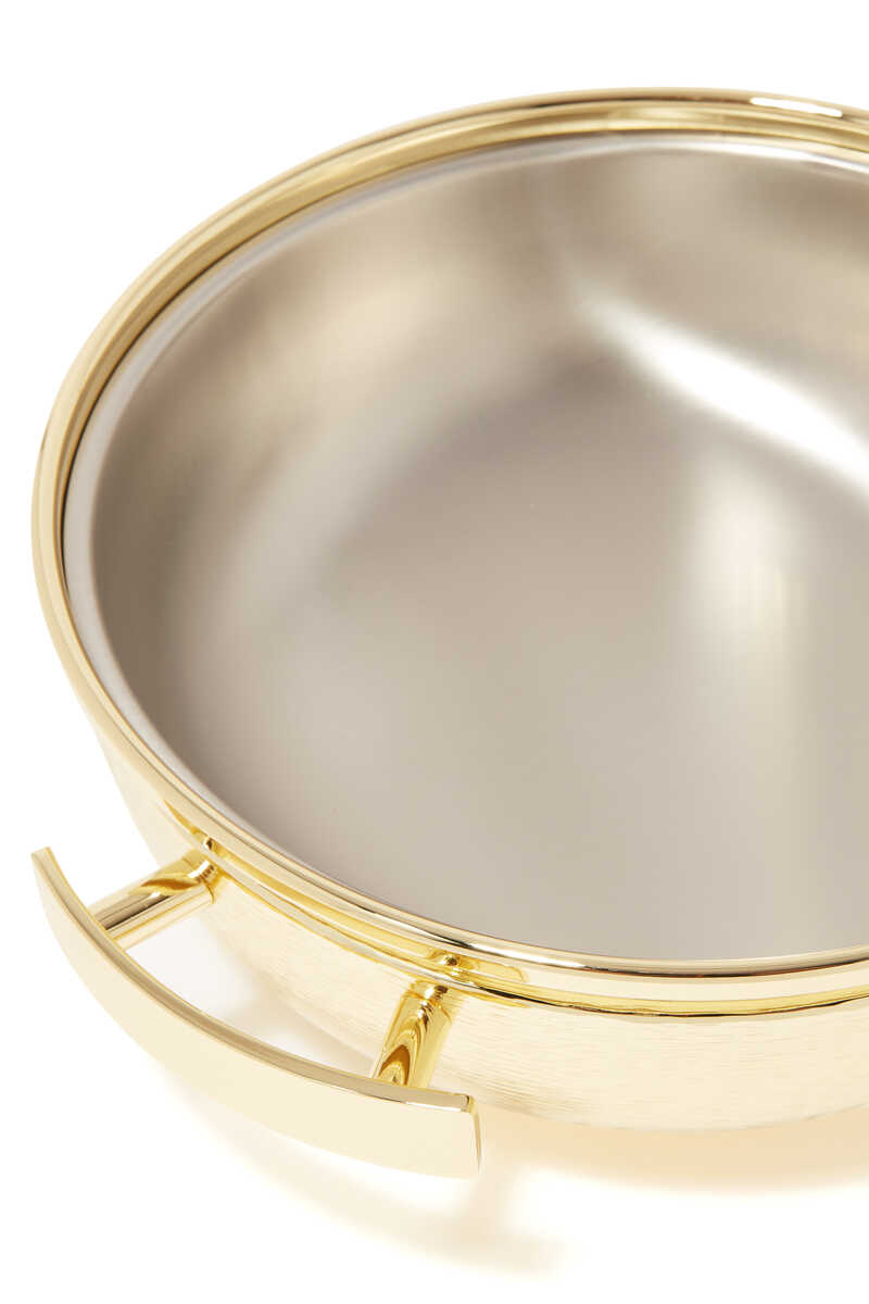 Round Brass Thermic Container image number 3