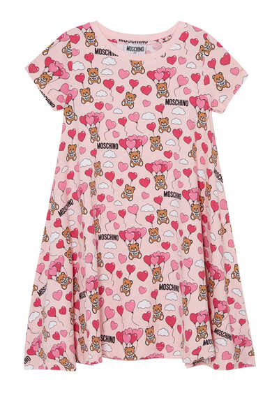 Teddy And Balloon Print Dress
