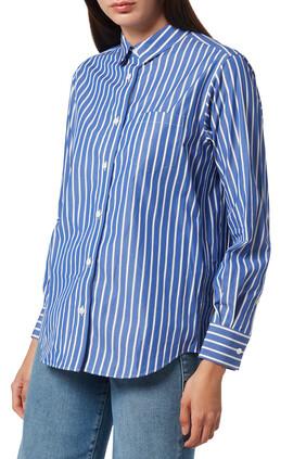 Cotton Poplin Pleated Shirt
