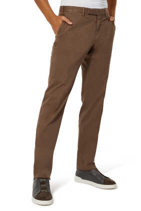 Stretch Cotton And Lyocell  Chino Pants