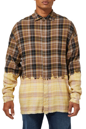 Bleached Logo Checked Shirt