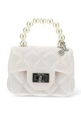 Pearl Handle PVC Bag