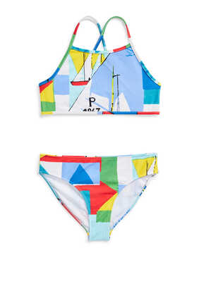 Sailboat Two-Piece Swimsuit
