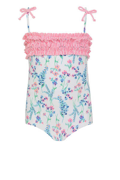 English Floral One-Piece Swimsuit