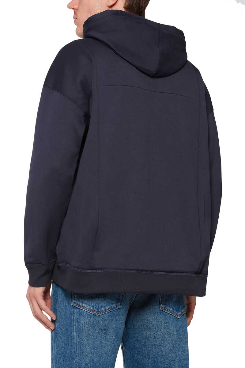V-Logo Zip-Front Hooded Sweatshirt image thumbnail number 3