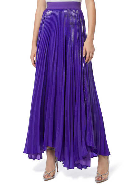 Katz Sunburst Pleated Maxi Skirt