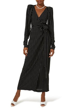 Bridget Long Dress Dotty