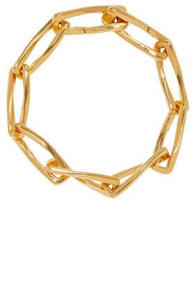 Gold Chunky Pirouette Chain Bracelet