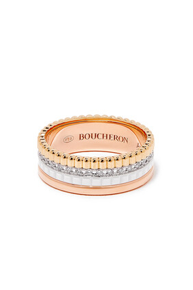 Quatre White Edition Diamond Small Ring