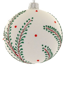 Glass Leaves Ornament
