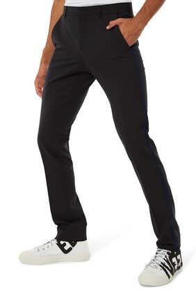 Side-Stripe Crepe Pants