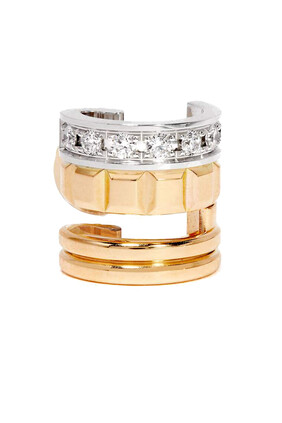 Quatre Radiant Edition Mini Ring Diamond Single Ear Cuff