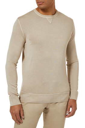 Long-Sleeve Fine-Knit Top