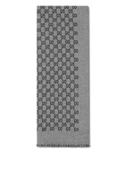Double Jacquard GG Wool Scarf
