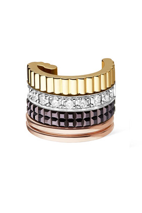 Quatre Classique Single Clip Earring with Diamonds