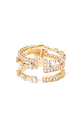 Avenues Diamond Ring in 18kt Yellow Gold