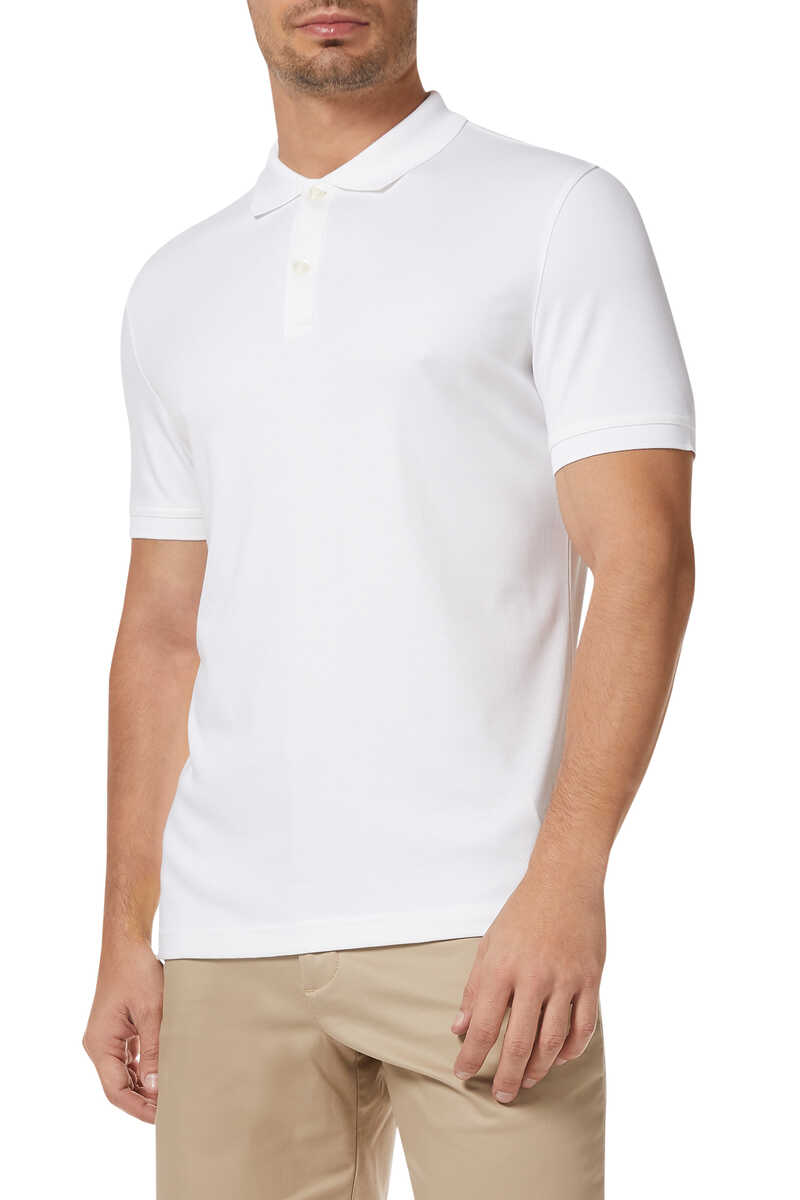 Luxury-Touch Cotton Polo Shirt image number 1