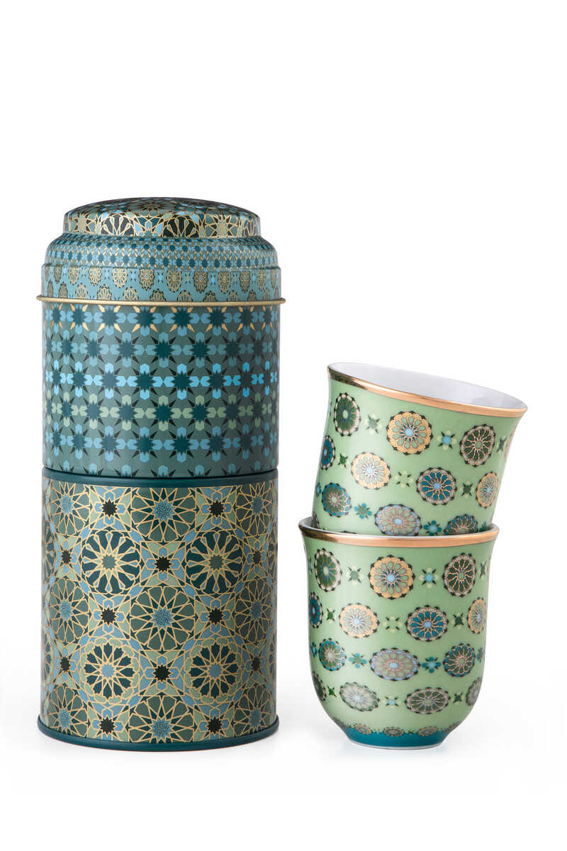 Andalusia Tin Box With Cups, Set of Two image number 1