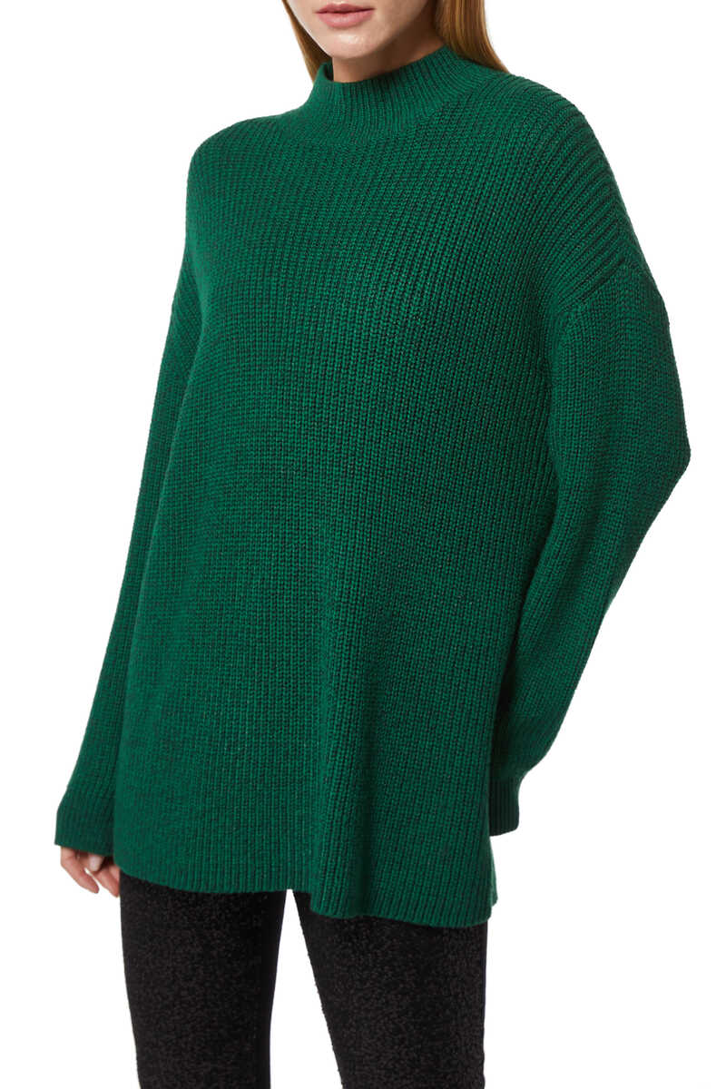Sarah Two-Way Boxy Turtleneck Jumper image number 1