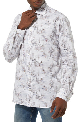 Crane Print Shirt