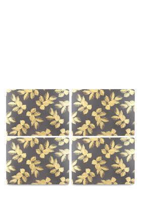 Etched Leaves Placemats, Set of 4
