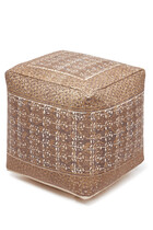 Printed Square Pouf
